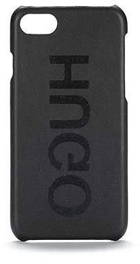 HUGO BOSS Reverse-logo iPhone 8 case in Italian leather