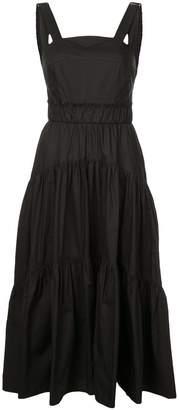 Proenza Schouler tiered flared dress