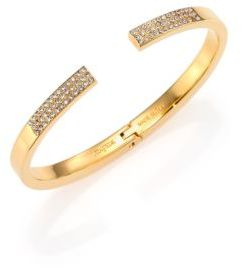 Vita Fede Divisio Crystal Cuff Bracelet/Goldtone $390 thestylecure.com