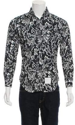 Thom Browne Corduroy Floral Shirt