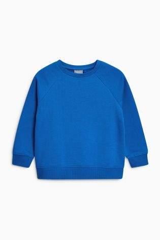 Boys Blue Crew Neck Sweater (3-16yrs) - Blue