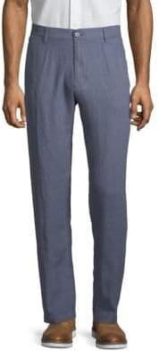 Saks Fifth Avenue Flat Front Linen Pants