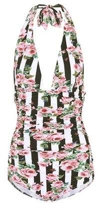 Dolce & Gabbana Printed halter swimsuit