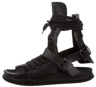 Ann Demeulemeester Leather Gladiator Sandals