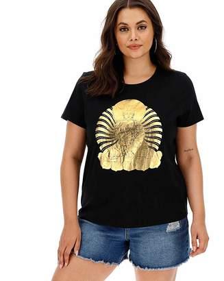 Hush Puppies Gold Foil Buddha Slogan T-Shirt