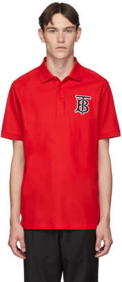 Burberry Red Warren Monogram Polo