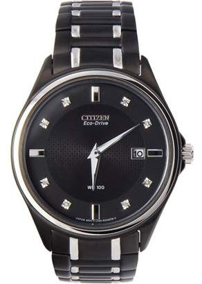 Citizen Men's AU1054-54G Eco-Drive Stainless Steel and Diamond-Accented Watch