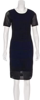 Line Short Sleeve Knee-Length Dress w/ Tags