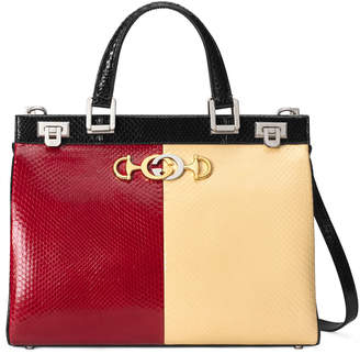 Gucci Zumi Medium Colorblock Top Handle Bag