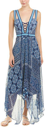 BCBGMAXAZRIA Handkerchief Maxi Dress