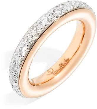 Pomellato Medium Rose Gold and Pavé Diamond Ring