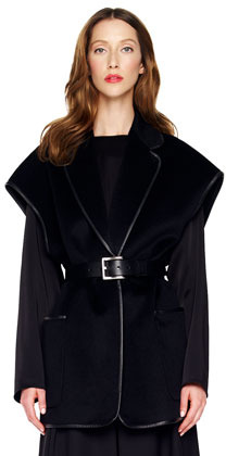 Michael Kors BG 111th Anniversary Leather-Trim Jacket