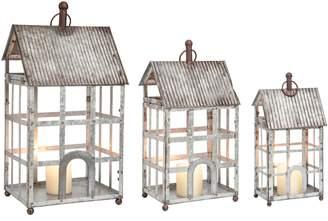 Foreside Heartland Set of 3 Lantern Candleholders