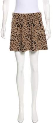 Skaist-Taylor Leopard Patterned Knit Skirt