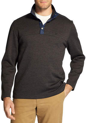 Izod Snap-Front Pullover Sweater Fleece