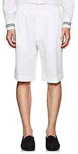 "Officine Generale Men's ""French"" Cotton-Linen Cuffed Shorts-White"