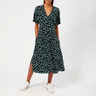 Whistles Women's Lenno Print Naya Button Dress