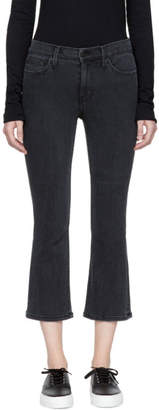 Earnest Sewn Black Melody Cropped Flare Jeans