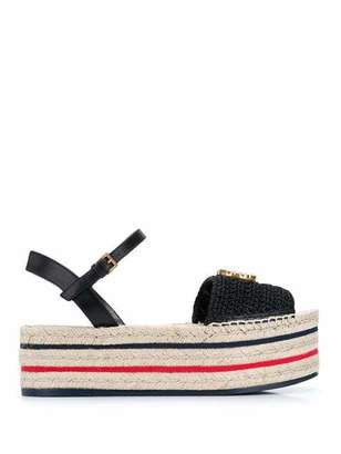 Gucci Lilibeth Crochet Flatform Wedges