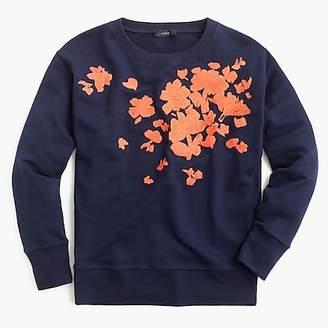 J.Crew Embroidered flower sweatshirt
