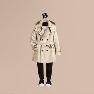 Burberry Hooded Cotton Twill Trench Coat $450 thestylecure.com