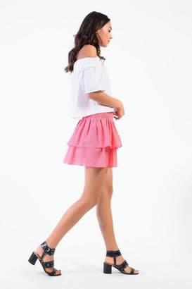 Glamorous Petites **Shirring Waist Skirt by Petite