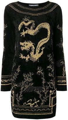 Alberta Ferretti dragon mini dress