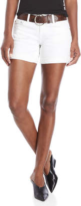 Dollhouse White Belted Roll Cuff Shorts