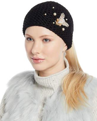 Jennifer Behr Embellished Bee Knit Head Wrap