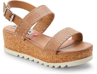 Steve Madden Kids Girls) Natural Krista Platform Sandals