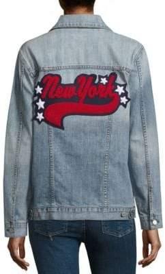 Rails Knox New York Distressed Cotton Denim Jacket