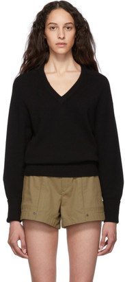 Chloé Black Cashmere Iconic V-Neck Sweater