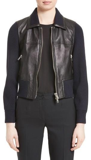 3.1 Phillip LimWomen's 3.1 Phillip Lim Knit Combo Leather Jacket