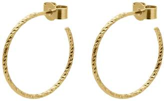Myia Bonner Gold Medium Diamond Hoop Earrings