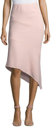Narciso Rodriguez Wool Crepe Asymmetric Skirt