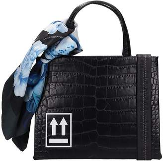 Off-White Off White Black Leather With Cocco Print Handbag