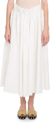 Loewe Eyelet Drawstring Midi Skirt