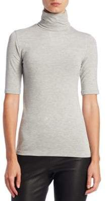 Majestic Filatures Soft Touch Elbow-Sleeve Top
