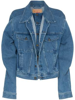 Y/Project Y / Project double layer long sleeve denim jacket