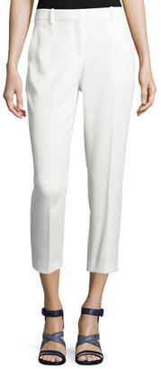 Theory Treeca 2 Admiral Crepe Cropped Pants $275 thestylecure.com
