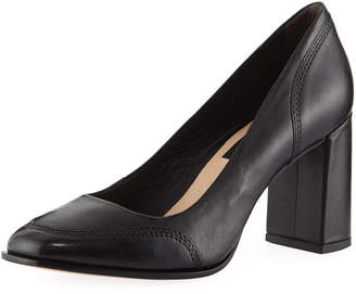 Donna Karan Shelby Leather Stitched Pumps