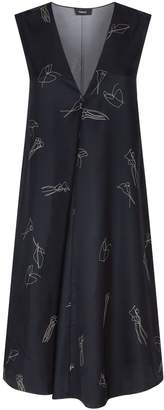 Theory Silk Print Dress