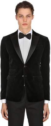 DSQUARED2 London Velvet Jacket W/ Satin Lapels