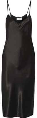 DKNY - Satin Midi Dress - Black $200 thestylecure.com