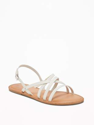 Old Navy Strappy Faux-Leather Sandals for Women