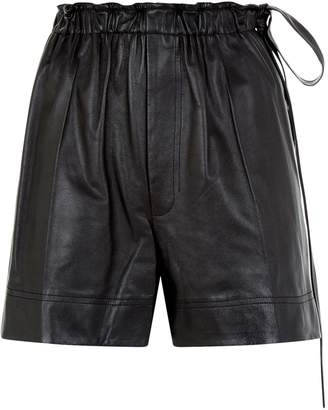 Helmut Lang Leather Paper Bag Shorts