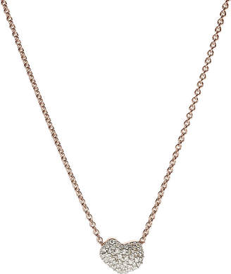Monica Vinader Nura 18ct rose-gold vermeil and diamond necklace