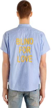 Gucci Blind For Love Pinpoint Bowling Shirt