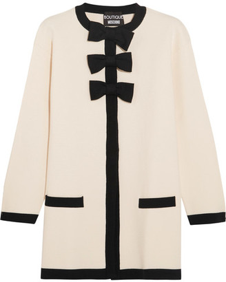 Boutique Moschino - Bow-embellished Wool And Cotton-blend Jacket - White $850 thestylecure.com