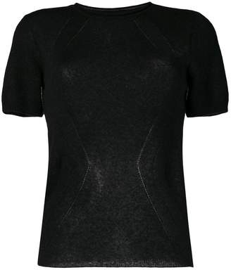Ermanno Scervino short-sleeve fitted sweater
